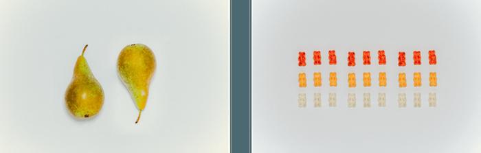 Twee peren gummy bear