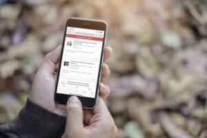 Mobiele telefoon app met leefstijlprogramma om hart- en vaatziekten te voorkomen.